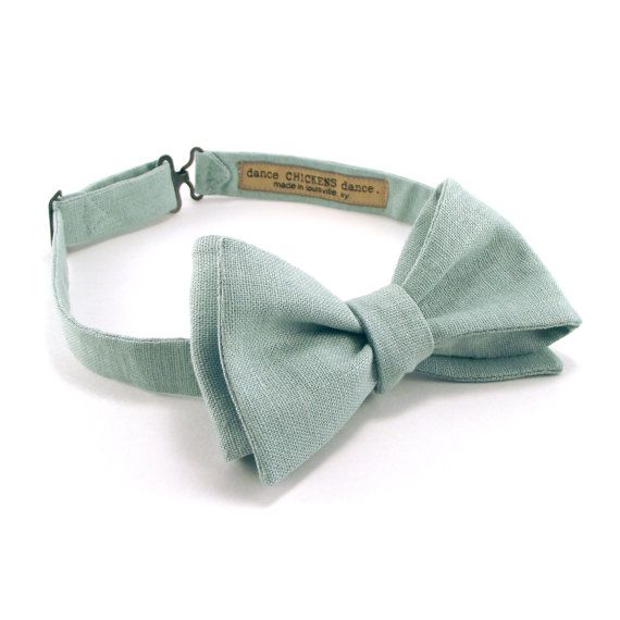 Dusty Shale Bowtie Men's Pale Blue Green by danceCHICKENSdance