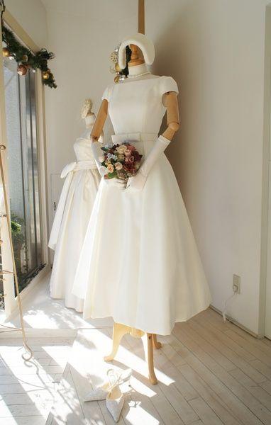 クロカンブッシュ(Croque en Bouche)  グログランミモレ丈ドレス01