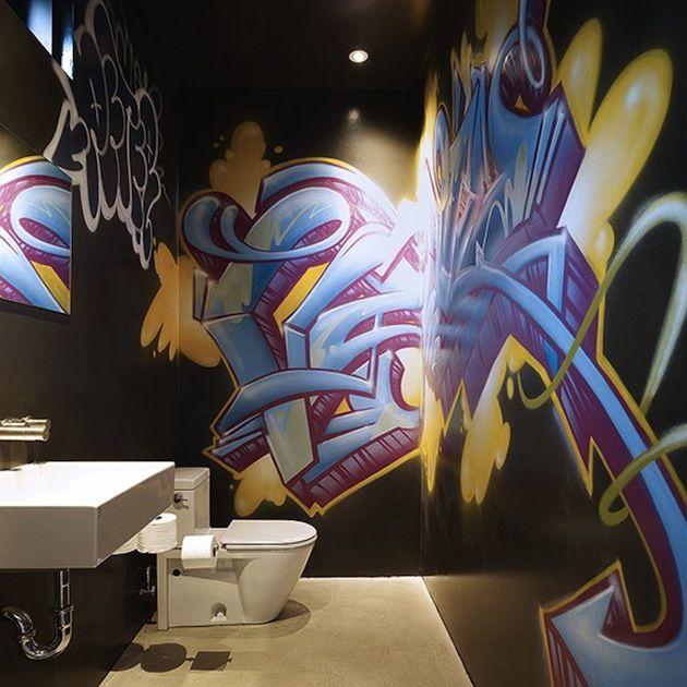 15 Urban Spaces Featuring Graffiti Street Art 9 Bathroom Interior DesignModern