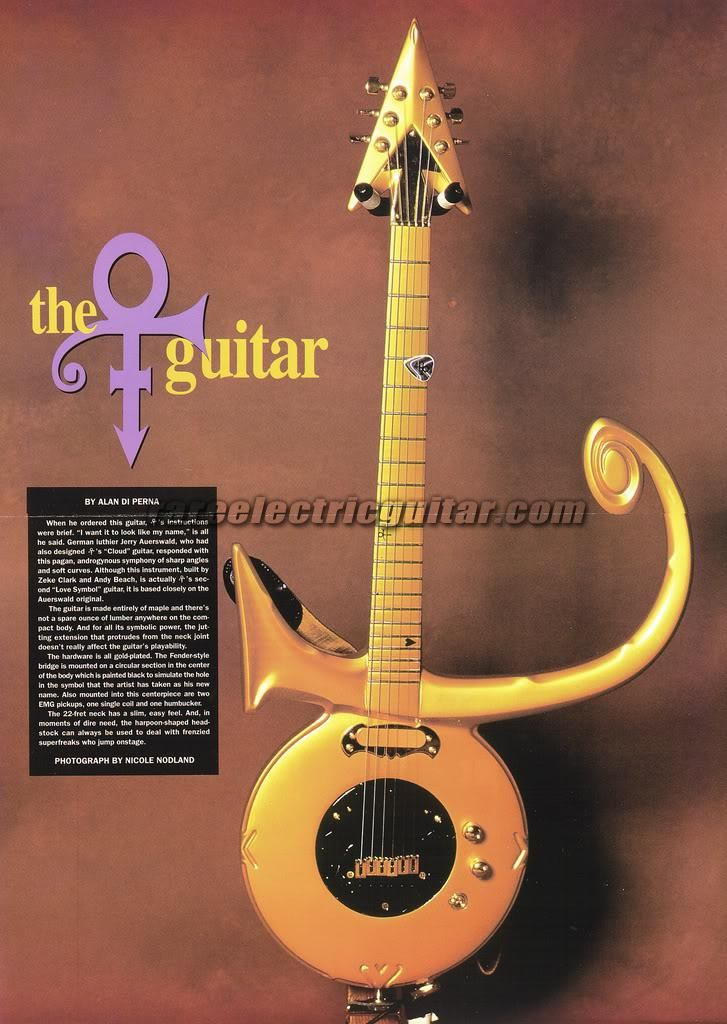 Prince Symbol Guitar For Sale Rare Electric Guitar The Artist