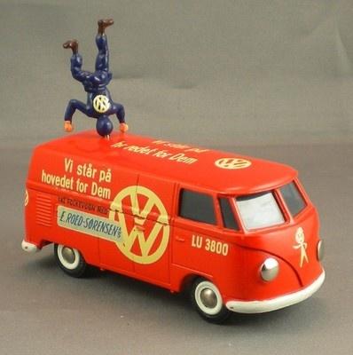 Vintage 1960's Tekno Volkswagen SORENSEN VW DEALER Bus RARE MINT ORIGINAL