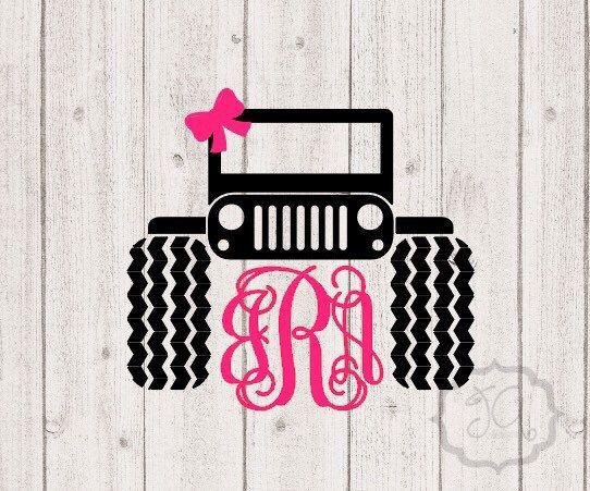 Monogram Jeep Decal Monogrammed Jeep Tires by JoniAlexisDesigns