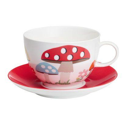 Mushroom Cup & Saucer