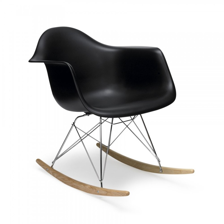 Charles and Ray Eames Black Rocker