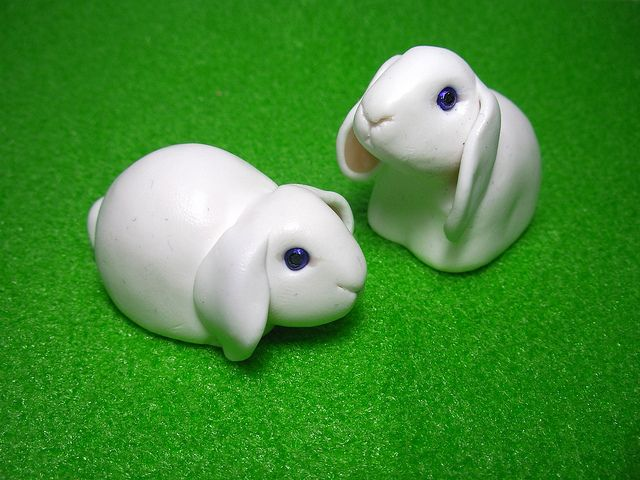 *POLYMER CLAY ~ bunnies by Quernus Crafts