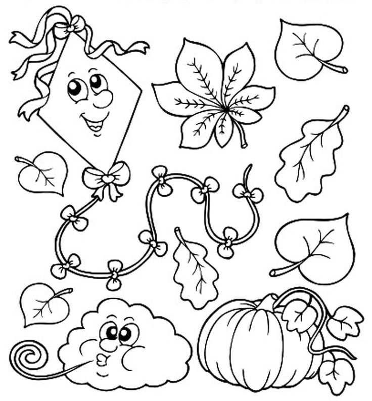 fall coloring for children season introduction