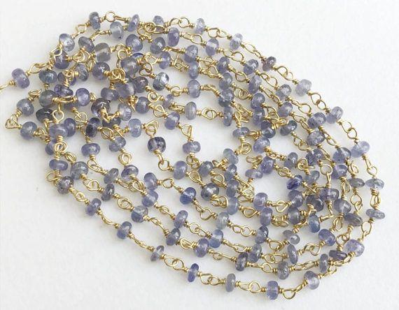 WHOLESALE 5 Feet Tanzanite Plain Rondelle Beads by gemsforjewels
