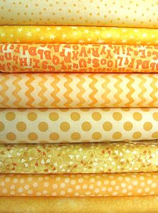 Bright Yellow Fabric Bundle