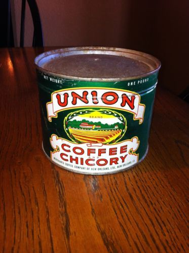 Minimalist Vintage 1lb Key Wind Union Coffee & Chicory Coffee Can UNOPENED MUST HAVE Coffee Cans Grinders Tins Pinterest Luxury - Lovely chicory coffee Unique
