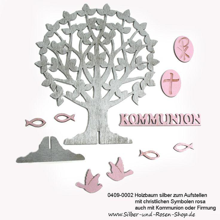 Kommunion Baum mit christlichen Symbolen