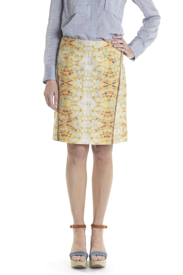 Bottoms - SHINING PRINT SKIRT WITH CONTRAST BIND - Lisa Ho - Textile design by Rouse Phillips