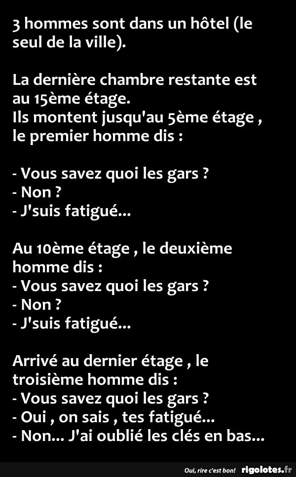 blague drole quand on est fatigue