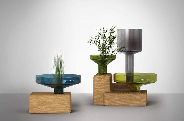 Top 10: Arik Levy's feeling for design | Stab Glass Vase, Danese, 2015 |