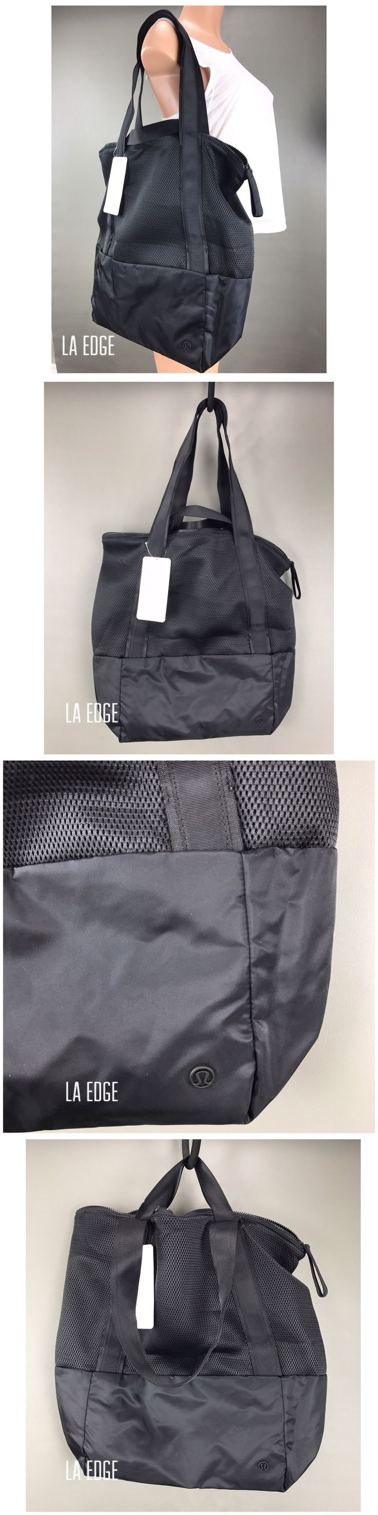 Gym Bags 68816: Lululemon Hot Mesh Tote Travel Large Bag Gym Yoga Mat Strap Ladies Ventilated -> BUY IT NOW ONLY: $72 on eBay!