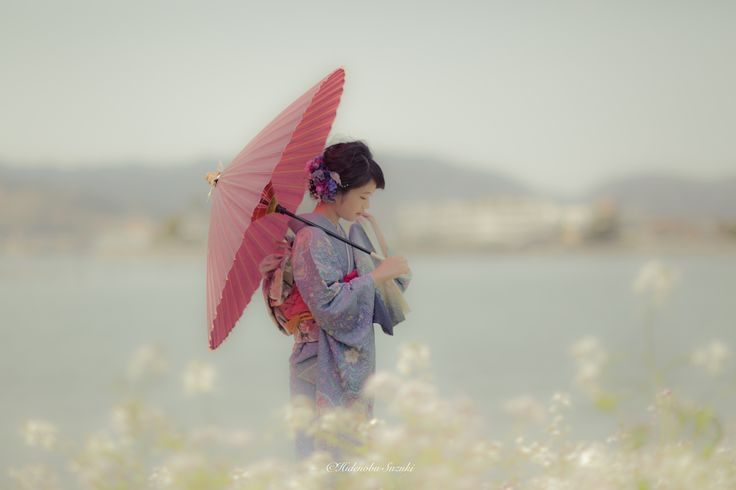 Spring soft day - Cherry blooming season.  1 day to be wrapped in a soft breeze. Traditional kimono and one day in the spring of Japan.