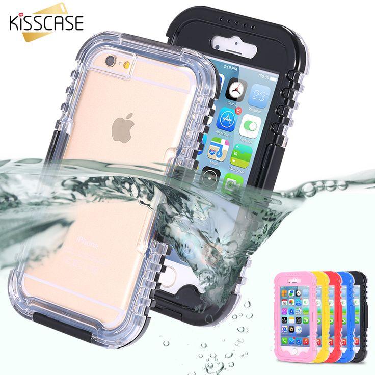 KISSCASE IP-68 Waterproof Heavy Duty Hybrid Swimming Dive Case For Apple iPhone...