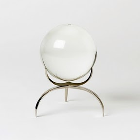 Gorgeous minimalist moon crystal ball stand