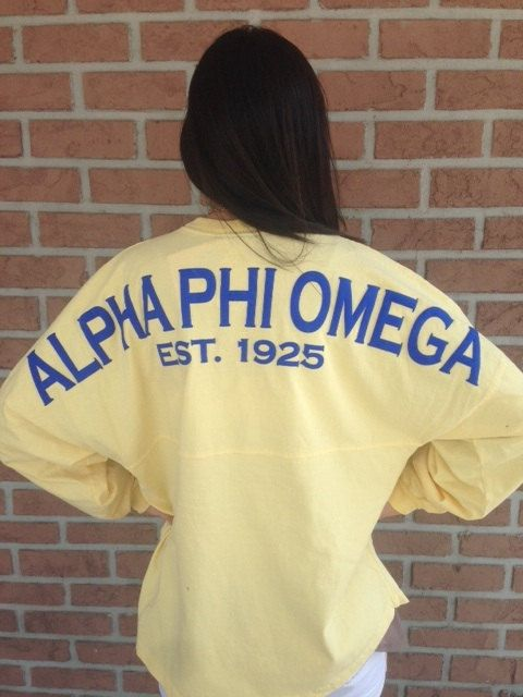 Spirit Football Jersey - Alpha Phi Omega-Love this !!!