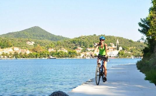 Cycling/biking Sipan Island, Croatia