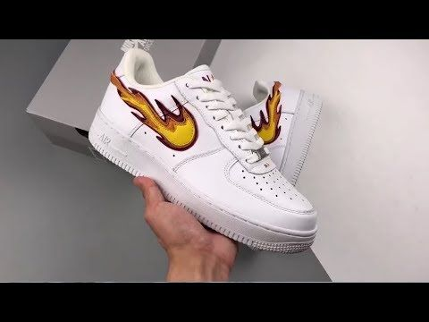 online retailer c2341 e6b94 Custom Designed La Flame Nike Air Force 1 AF1 Low On Fire