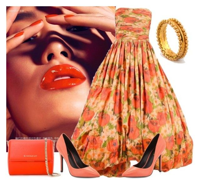Orange Honey by glirendree on Polyvore featuring moda, Oscar de la Renta, Charles by Charles David and Givenchy