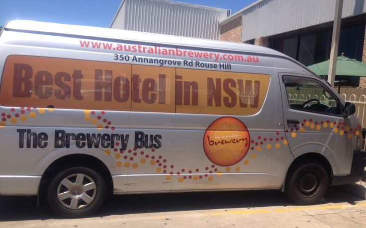 Our Courtesy bus @ The Australian  Hotel and Brewery