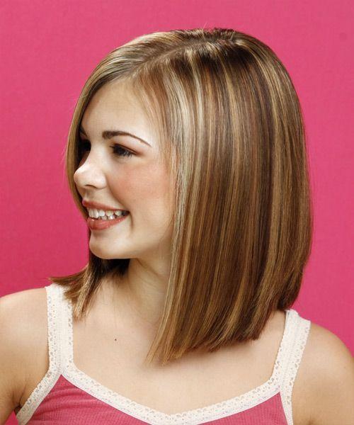 girls lob haircut - Google Search