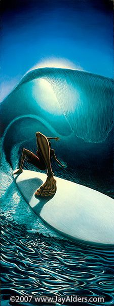 jay Alders surf art  Love his work...would look great on my walls at home
