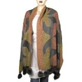 Clothing From India Stoles and Scarves Wool Dresses 28 X 72 Inches (Apparel)By ShalinIndia