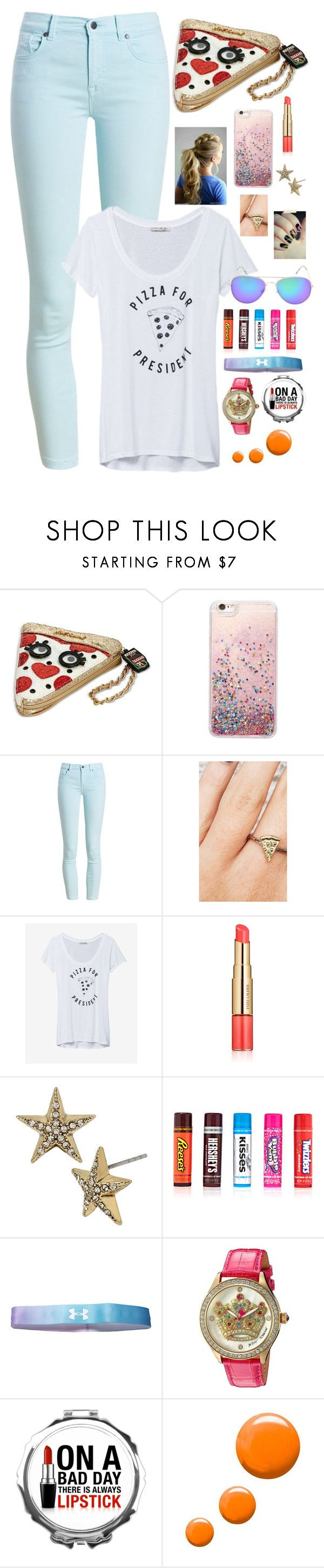 """Untitled #342"" by jan40218 ❤ liked on Polyvore featuring Betsey Johnson, Barbour, Rock 'N Rose, Express, Estée Lauder, Hershey's, Under Armour and Topshop"