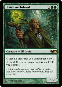 Magic: the Gathering - Elvish Archdruid (168) - Magic 2013 by Wizards of the Coast. $0.99. This is of Rare rarity.. From the Magic 2013 (M13) set.. A single individual card from the Magic: the Gathering (MTG) trading and collectible card game (TCG/CCG).. Magic: the Gathering is a collectible card game created by Richard Garfield. In Magic, you play the role of a planeswalker who fights other planeswalkers for glory, knowledge, and conquest. Your deck of cards repr...