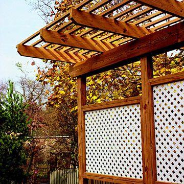 Privacy Deck with pergola.  deck arbor
