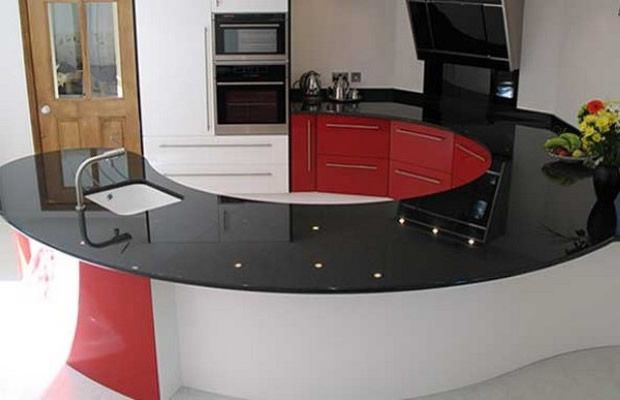 Siyah Simli Mutfak Tezgahı
