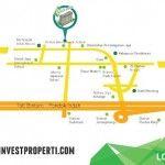 Peta lokasi / map apartemen Emerald Bintaro #jayarealproperty #apartemenemeraldbintaro
