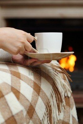 Cup of tea by the fire