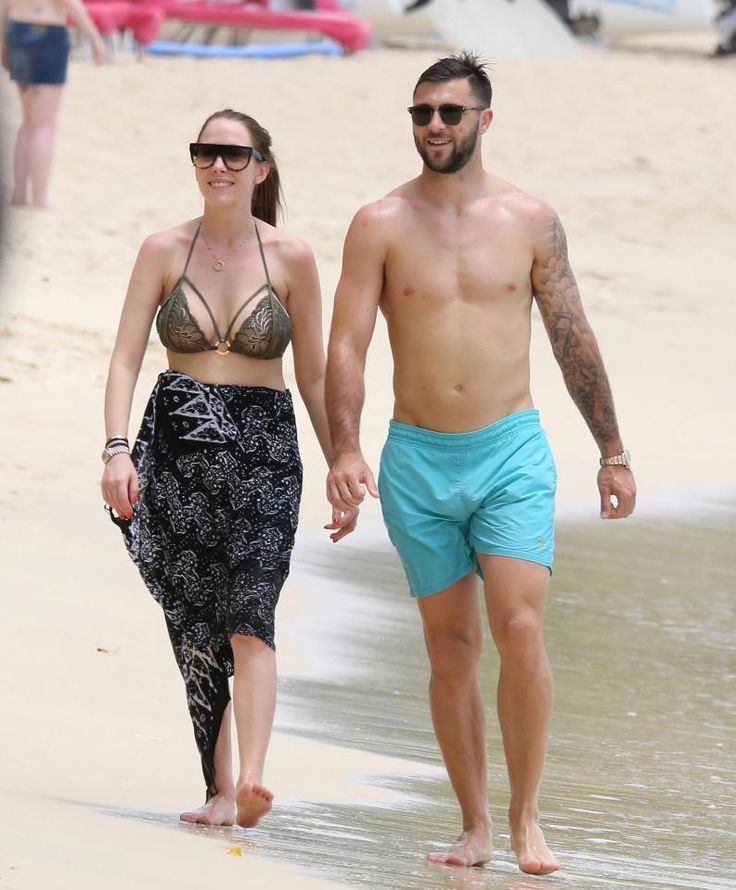 Southampton star Charlie Austin and his wife Bianca Austin holiday in Barbados