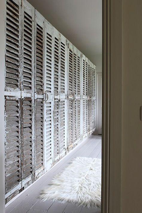 shutters as closet doors-desire to inspire - desiretoinspire.net - Retrouvius update