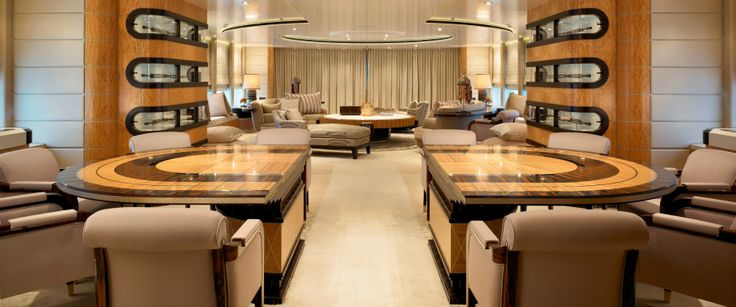 Linley sliding table yacht bannenberg rowell interior for Table design yacht