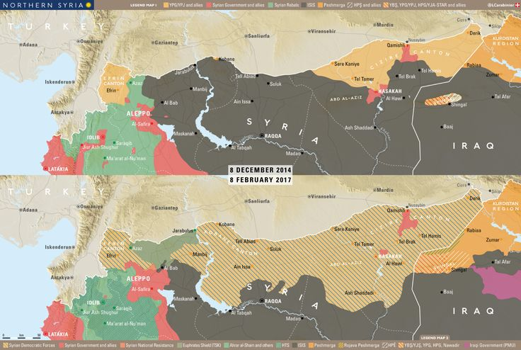 #Media #Oligarchs #MegaBanks vs #Union #Occupy #BLM #SDF #Humanity   Map: Northern #Syria 8 December 2014-8 February 2017   https://imagopyrenaei.files.wordpress.com/2017/02/northern-syria-8f2017.png