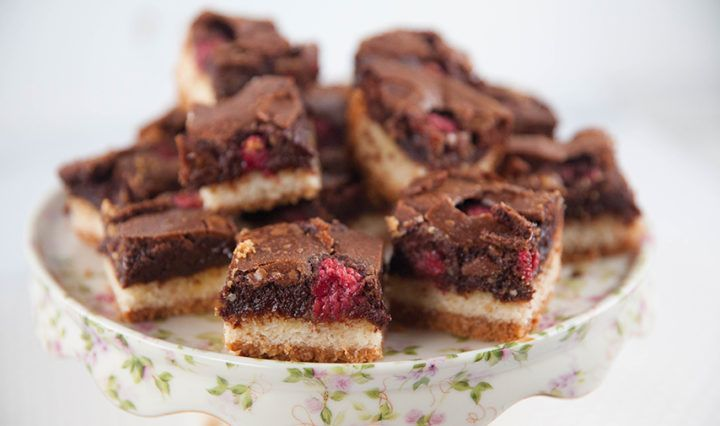 Chocolate Coconut Raspberry Slice