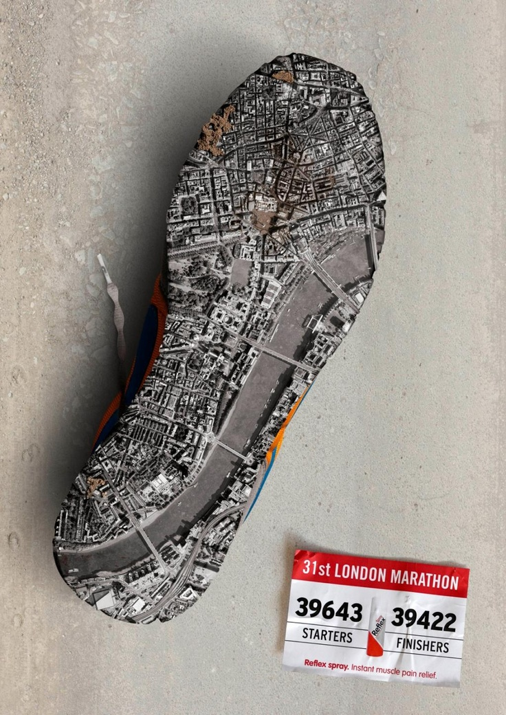 Reflex Spray: London Marathon Print Ad