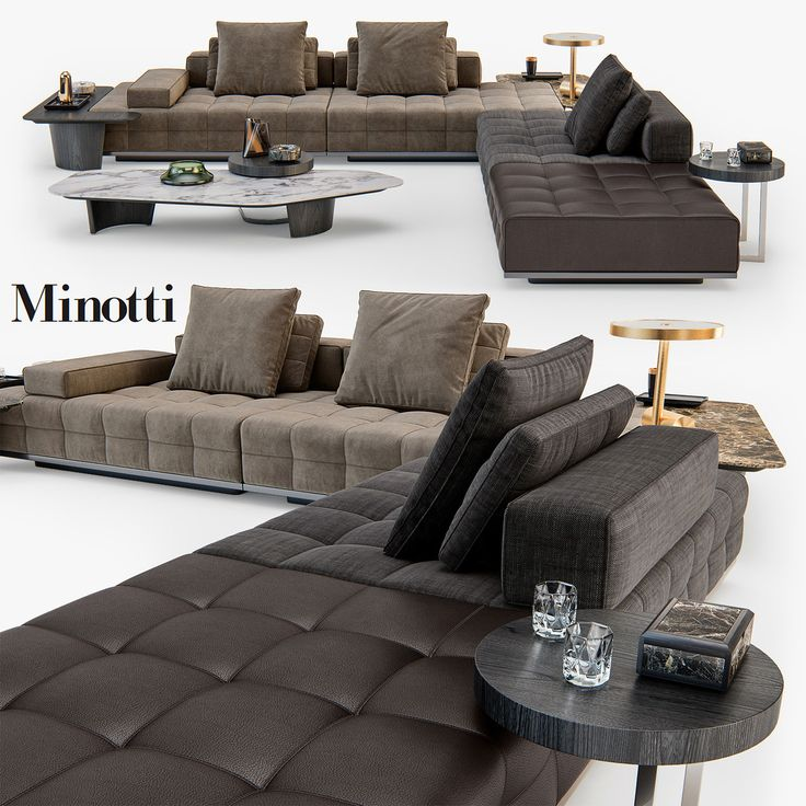 Popular D Minotti Lawrence Clan Seating Model D Model