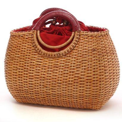 フェス fes KUPU-KUPU ラタンハンドバッグ(レッド) -「買ってから選ぶ。」靴とファッションの通販サイト ロコンド