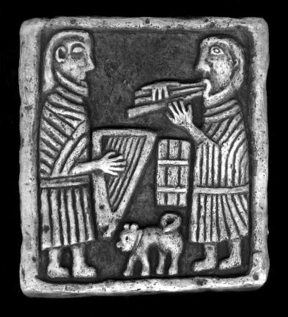 Celtic musicians. Music is thought to have played a powerful role in early Scotland.  This 10th century carving from Lethendy Tower in Perthshire shows Pictish harp, Irish pipes and drum.