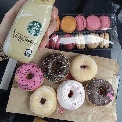 I'm normal about that Starbucks but look at those doughnut! Dreaming of them!