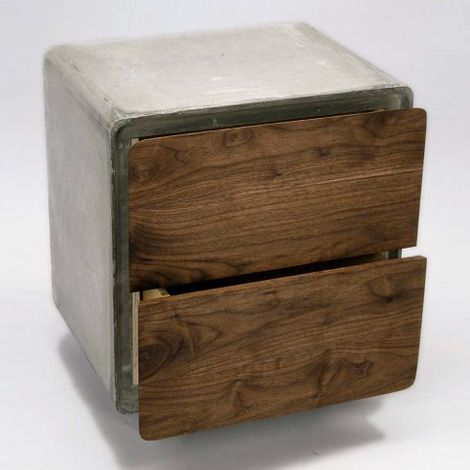 Concrete Cabinet, from Jean Willoughby, is the perfect combination of wood and concrete.