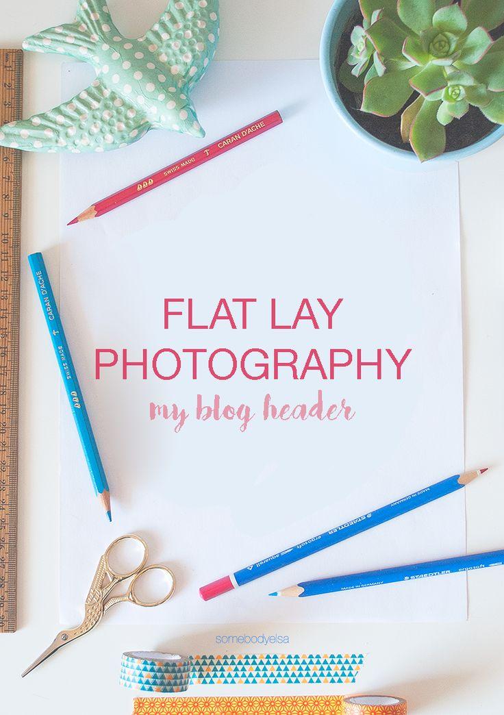 Flat lay photography - my new header