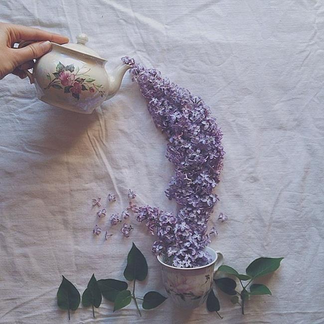 Rus Sanatçı Marina Malinovaya'dan Fincan ve Çiçeklerle Yapılmış 20 Muazzam Çalışma Sanatlı Bi Blog 14