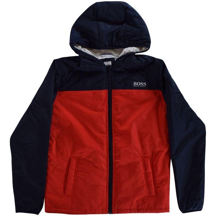 HUGO BOSS JUNIOR Hugo Boss Boys Red/Navy Zip Up Jacket - Junior from Brother2Brother UK