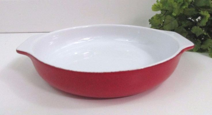 EMILE HENRY FRANCE Serving Dish 31.18 Red Ceramic Bakeware Stoneware DC5